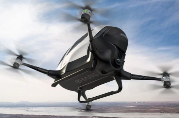 Iniziano i test per EHang 184, il drone-taxi