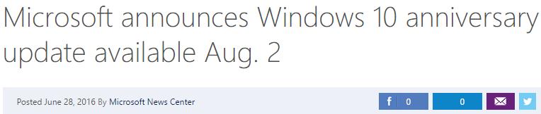 microsoft windows 10 2 agosto