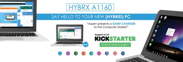 Hybrx A1160: nuovo laptop con Remix OS alla ricerca di fondi