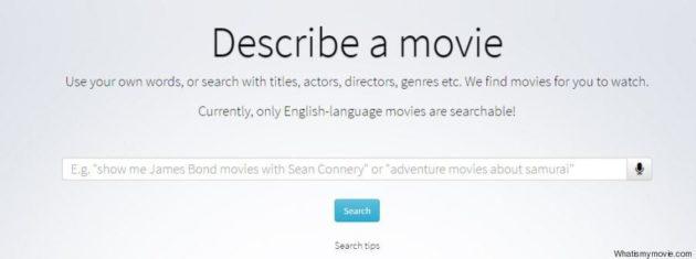 Whatismymovie è il motore di ricerca per i film di cui non ricordi il titolo
