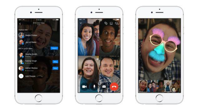 Facebook Messenger: disponibili le videochiamate di gruppo