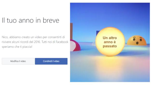 Facebook: rivivi il tuo 2016 grazie ad un video