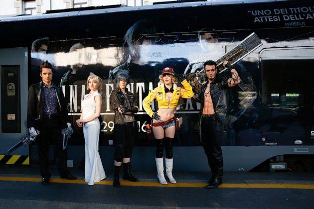 Final Fantasy XV prende vita con l'arrivo a Milano di un treno dedicato al gioco