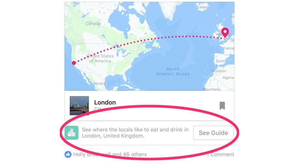 Facebook si prepara per introdurre il servizio City Guides