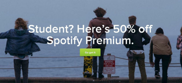 Spotify Premium a metà prezzo, ma solo per gli studenti