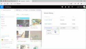 OneDrive disponibile la cronologia dei salvataggi di tutti i file (03)