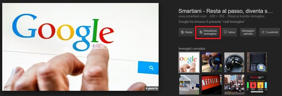 Come riottenere il pulsante ''Vedi immagine'' su Google Chrome (2)