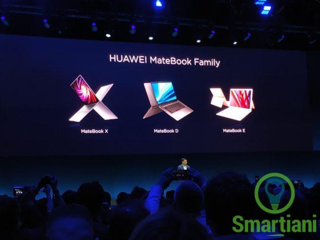 Huawei presenta MateBook X PRO, MateBook 13 e MateBook 14