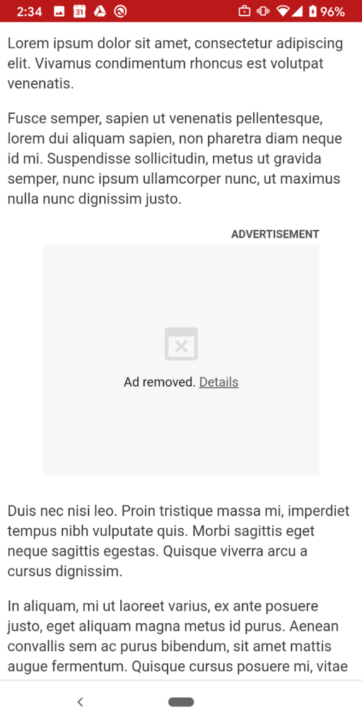 Google Chrome ADS